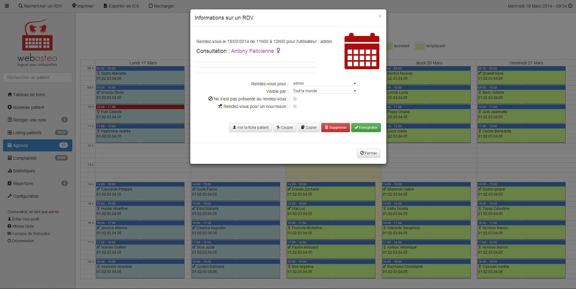 Captures d 39 cran webosteo logiciel pour ost opathes for Photo ecran logiciel